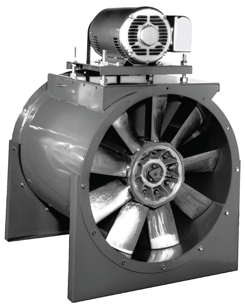 Adjustable Pitch Vane Axial Belt Drive Fan