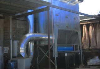 Dust control extraction